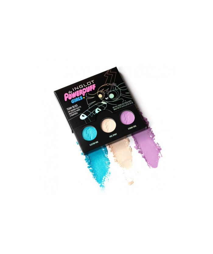 Палетка теней INGLOT THE POWERPUFF GIRLS TEAM BLISS EYE SHADOW PALETTE